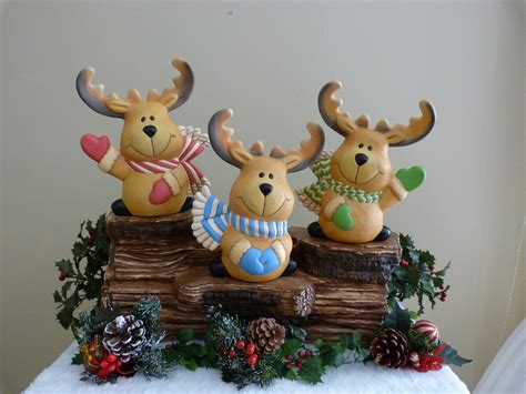 ceramic reindeer unique handpainted christmas gifts for