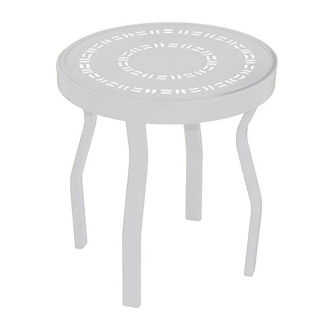 white patio side table white patio side table 50etw rta the home depot