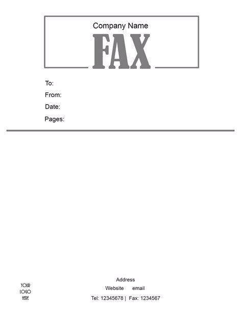free fax cover letter template generic fax cover sheet cover letter