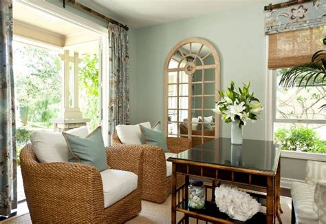 benjamin moore tranquility indoor porch paint colors shingle california home designed by barclay butera home