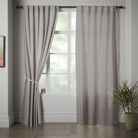cotton linen curtains linen cotton curtain platinum west elm