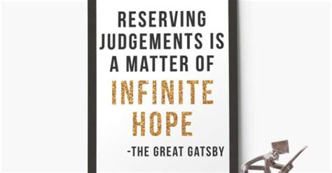 the great gatsby themes hope reserving judgements is a matter of infinite hope f