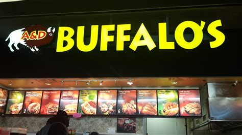a d buffalos inside food court yelp
