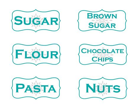 Blue Kitchen Canister Set kitchen storage container labels free printables mom