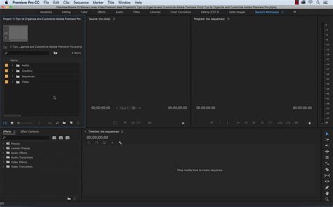 5 Tips To Organize And Customize Premiere Pro Premiere Pro Project Template