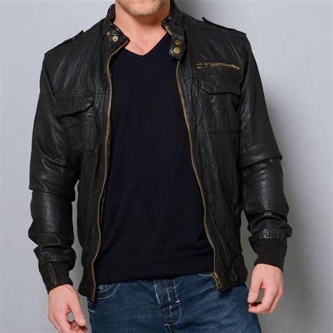 Handmade Leather Jackets - handmade mens leather jacket black biker leather jackets