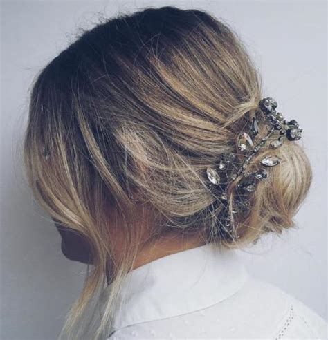 good hair bun in your 40s 40 quick and easy short hair buns to try