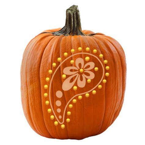 paisley pumpkin stencil
