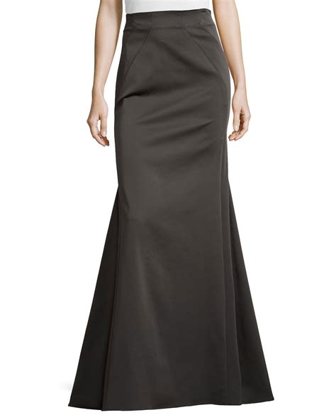 Floor Skirt by Zac Zac Posen Floor Length Trumpet Skirt In Black Lyst