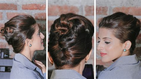 easy hairstyles glamrs quick and easy french twist bun updo updo hairstyles
