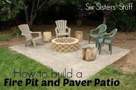 How To Build Your Own Fire Pit And Paver Patio From How To Build Your Own Firepit
