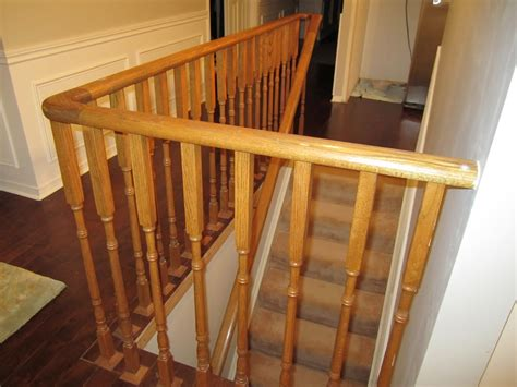 How To Stain Wood Banister Remodelaholic Updating An Oak Stair Or Handrail To White