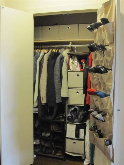 Simple Wall Mounted Hanging Shoe Storage In Closet Ideas Closet Door Shoe Storage