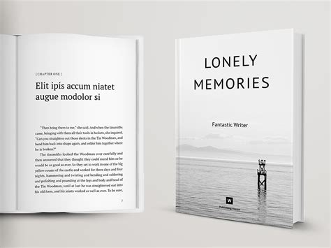 Novel And Poetry Book Template Themzy Templates Indesign Book Cover Template