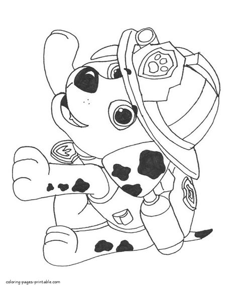 paw patrol coloring book little marshall