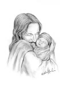 8x10 glimpse of heaven jesus christ holding a newborn baby