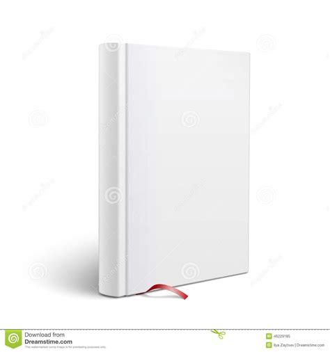 Blank Vertical Book With Bookmark Template. Stock Vector