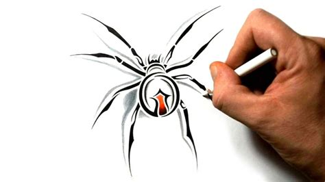 tribal black widow tattoo how to draw a black widow spider tribal design