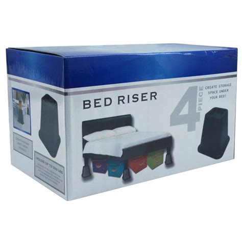12 inch bed risers 6 inch high bed risers in black 4 pack fastfurnishings com