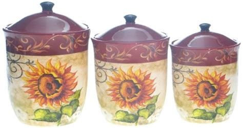 sunflower kitchen canisters certified international tuscan sunflower canister set 3 ragasiz77