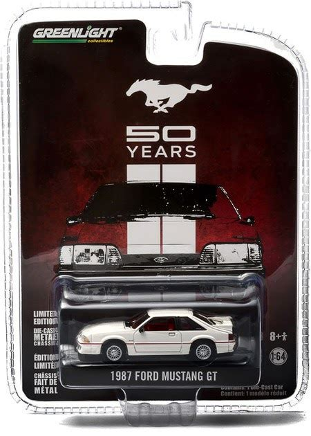 Kazel Bodysuit Boy Fox Edition greenlight collectibles 1987 87 ford mustang gt fox white 50 years limited edition