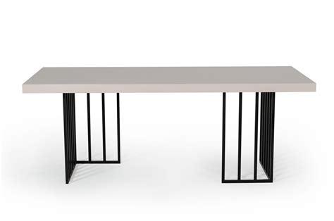 modrest modern grey gloss dining table