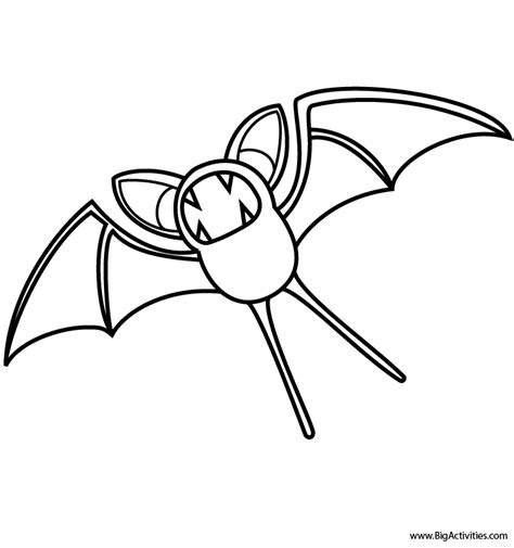pokemon zubat coloring pages zubat coloring page pokemon