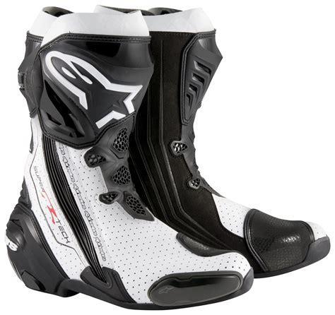 Dijamin Alpinestar Smx Plus Black White Vent Alpinestars Supertech R Vented Boots Black White Jpg