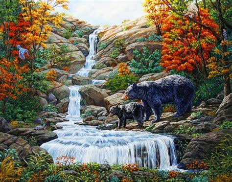 imagenes de paisajes y animales hermosos im 225 genes arte pinturas paisajes con cascadas y animales