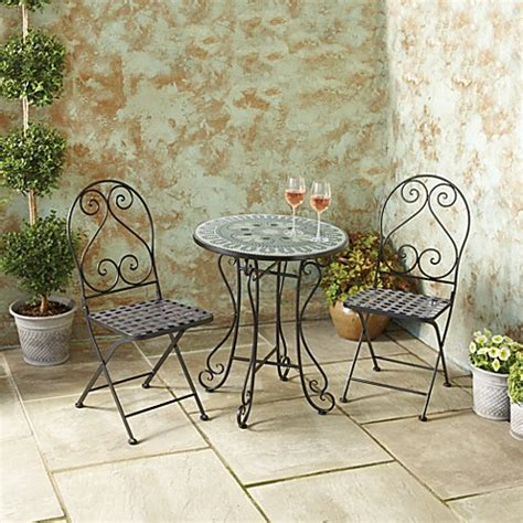 3 piece mosaic bistro set bed bath beyond