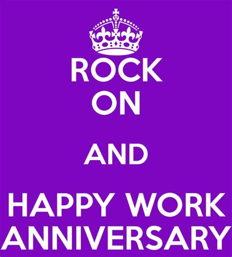 ROCK ON AND HAPPY WORK ANNIVERSARY Poster   Michelle