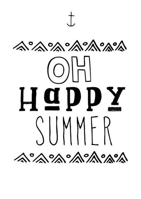 printable summer quotes happy summer poster print typography graphicdesign