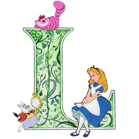 alice in wonderland l the letter l initials l k b with a p thrown in too