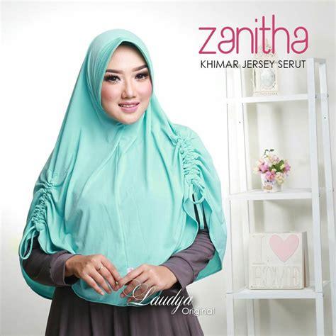 Jilbab Khimar Pet Tali Jilbab Instan Khimar Jersey Serut Zanitha Modern 2017