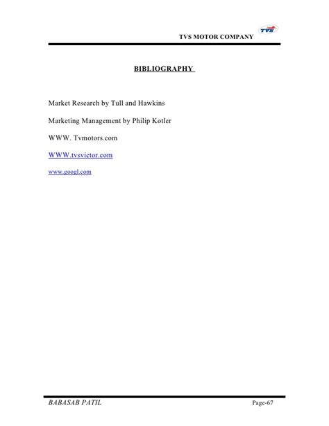 Marketing Project Report Mba by Customer Satisfaction Tvs Motors Project Report Mba