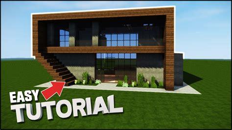 Tutorial Modern Minecraft Modern House Tutorial House Plan 2017