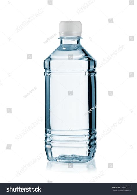 small plastic water bottle stock photo 129481757