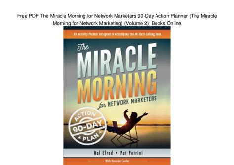 the miracle morning companion planner books free pdf the miracle morning for network marketers 90 day