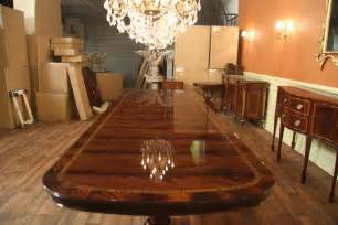 Oversized Dining Room Tables Large And Wide High End American Made Mahogany Dining Room Table Ebay