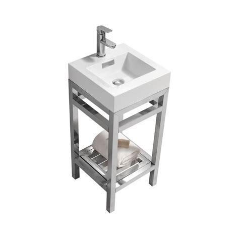 White Stainless Steel Sink Cisco 16 Quot Stainless Steel Console W White Acrylic Sink