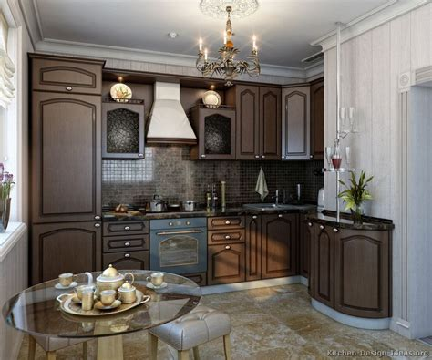 kitchen decorating ideas dark cabinets the wall the pictures of kitchens traditional dark wood kitchens