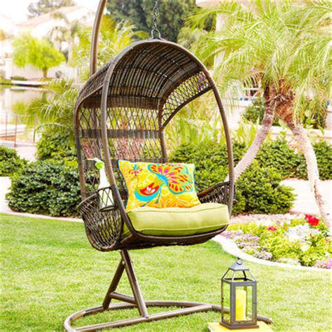 Swingasan 174 Mocha Hanging Chair Pier 1 Imports | swingasan 174 chair stand mocha from pier 1 imports
