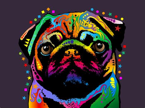 dogs poster pug pop print poster s127 ebay