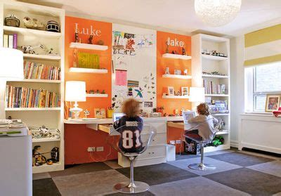 kids study room ideas pinterest decosee com cool idea for kids study room in orange and white study