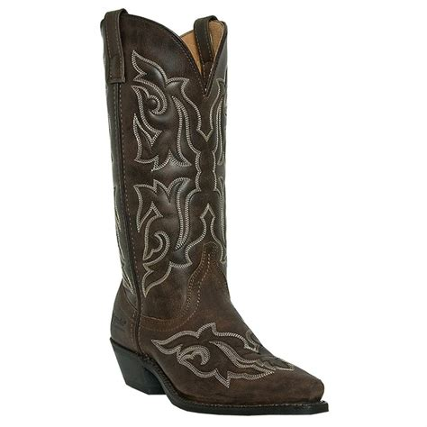 cowboy boots womans s laredo 12 quot runaway western boots brown 590530