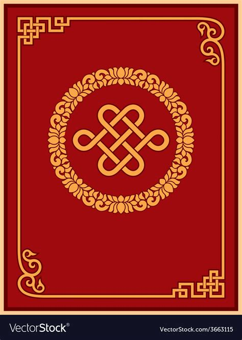 chinese graphic design layout chinese oriental frame and layout design vector image