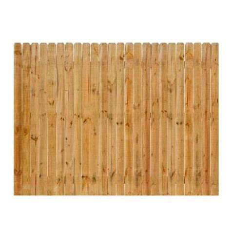 home depot fence sections 8 ft x 6 ft cedar dog ear fence panel