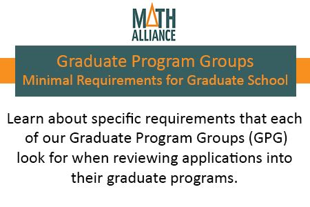 Of Mba Program Requirements by Gpg Minimal Requirements For Graduate School Math