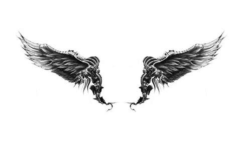 恶魔翅膀纹身 高清图片 免费下载 绘艺素材网