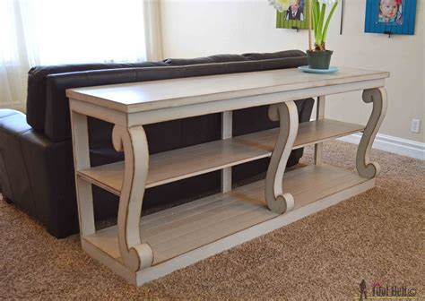 Remodel The Furniture With Diy Sofa Table Build Sofa Table